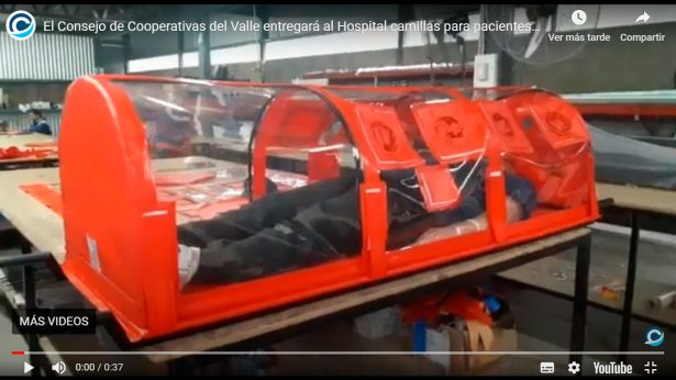 Cooperativas del Valle de Calamuchita donan camillas COVID-19